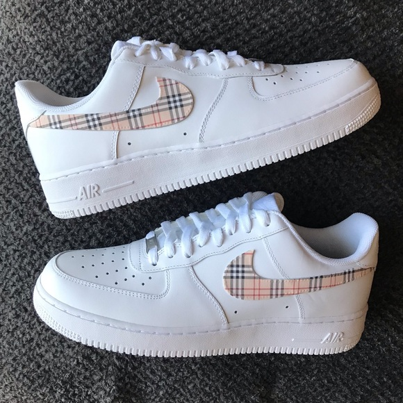 Nike Air Force 1 Custom Fabric Size 10 Handmade NWT